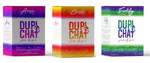 colourful tea boxes for DUPIsCHAI