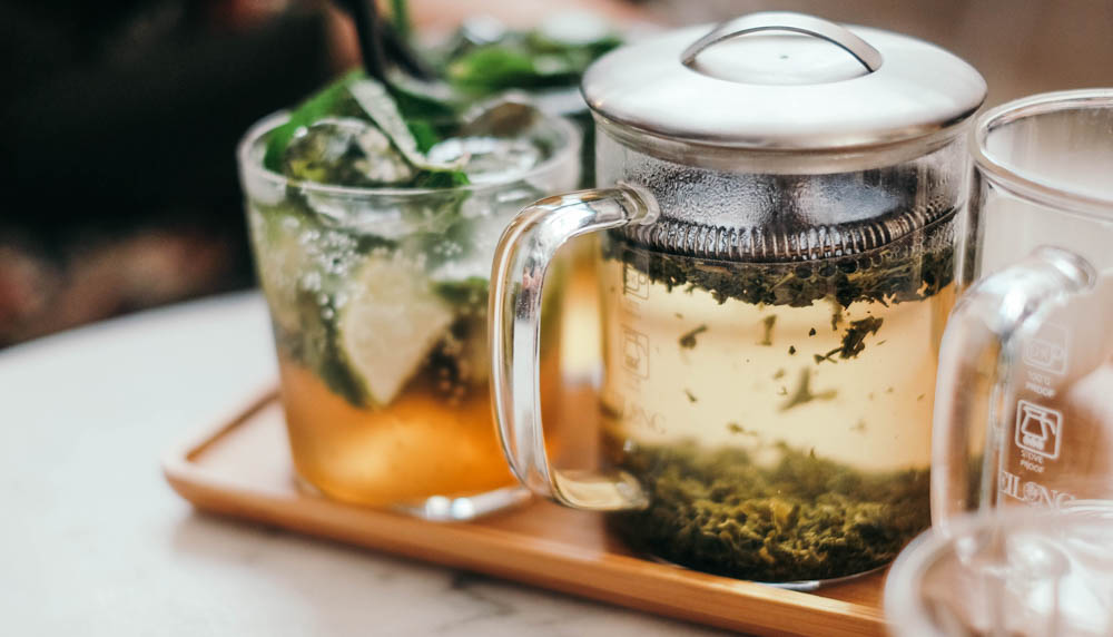 herbal tea in pot