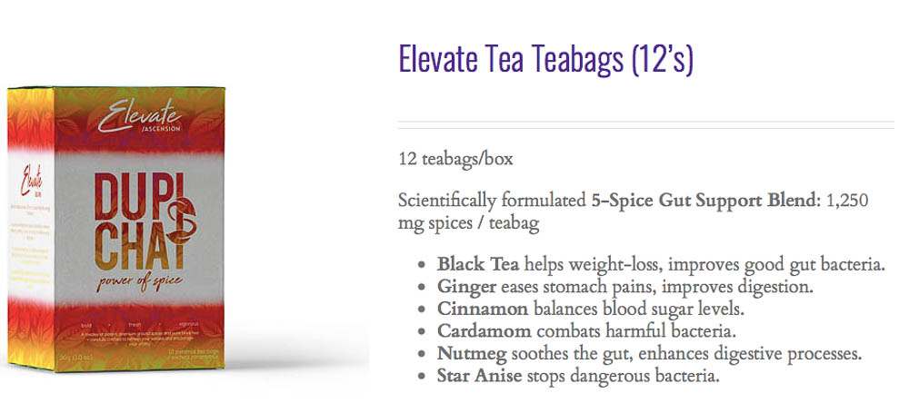 shop elevate chai tea