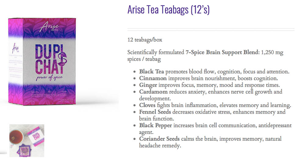 Arise Chai Tea Health Benefits