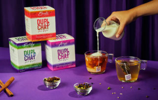 chai tea boxes, add milk to teabags