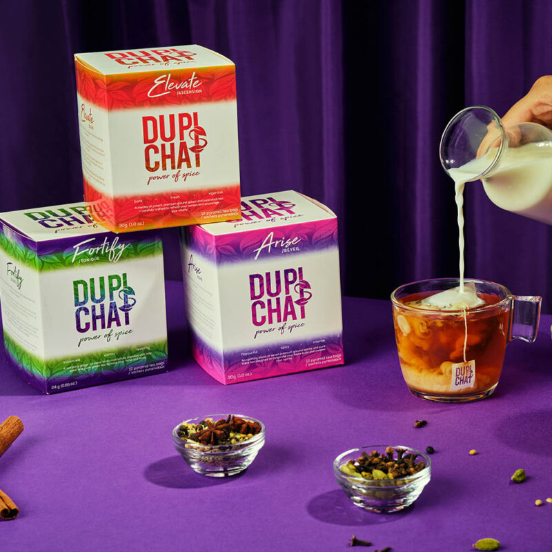 chai teabags product photo